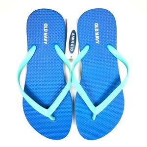 Old Navy Women's Blue Flip Flop Sandals Sz 7 Thong